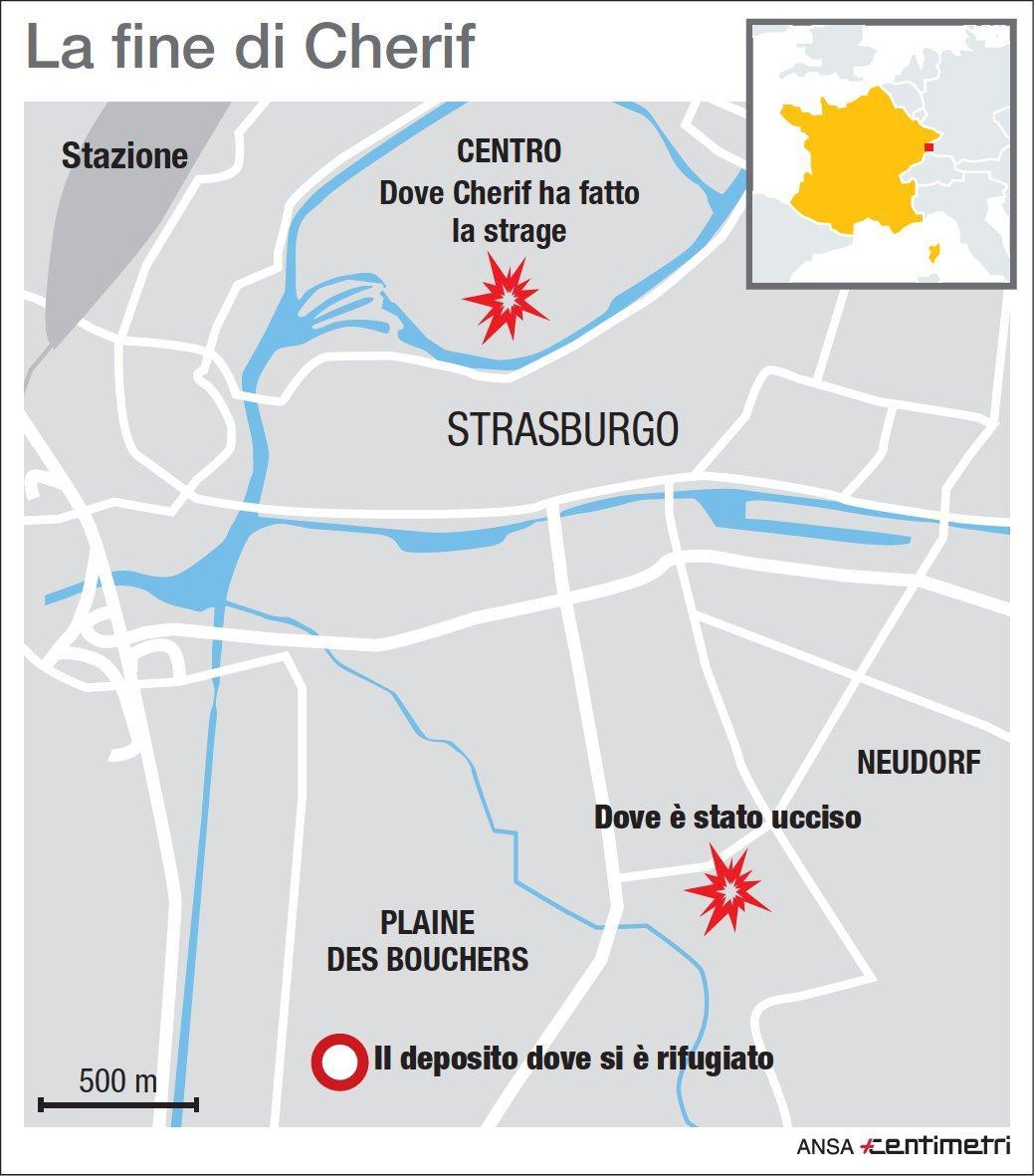 Strasburgo, il killer è stato ucciso in un blitz delle forze speciali