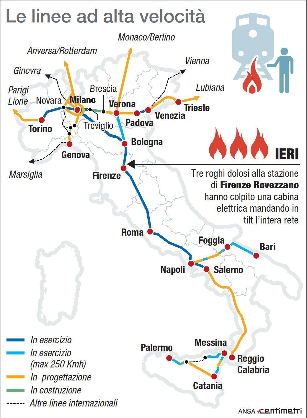 La Tav in Italia, ecco le linee attive e quelle future
