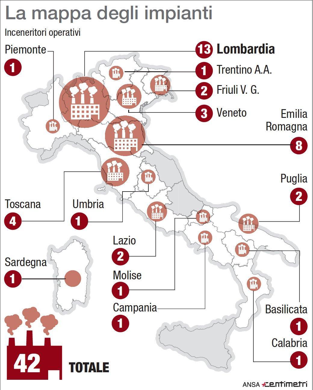 Inceneritori, la mappa degli impianti italiani
