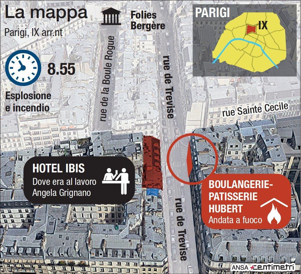 Esplosione a Parigi, la mappa
