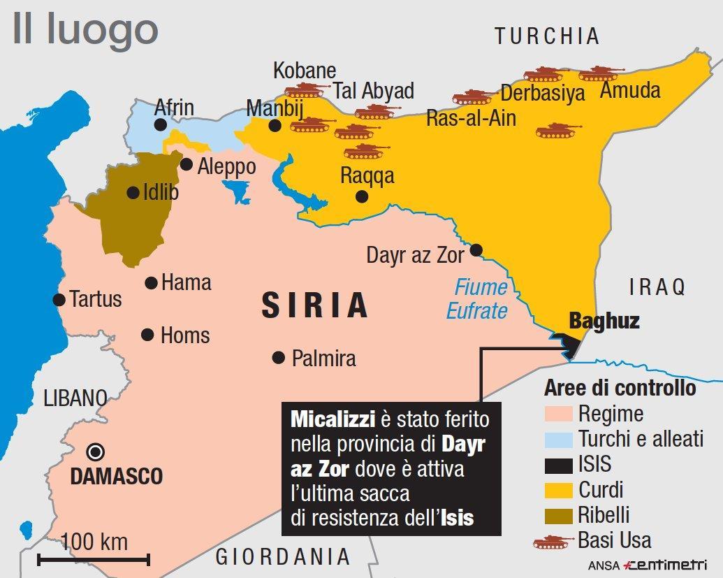 Siria, ferito fotoreporter italiano