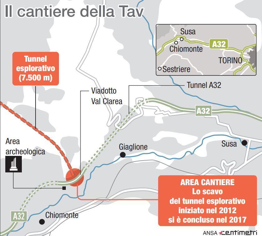 Tav, il cantiere della linea Torino-Lione