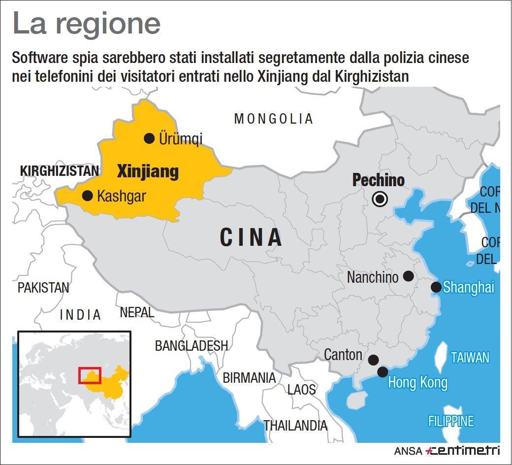 Cina, app spia installata sugli smartphone dei turisti