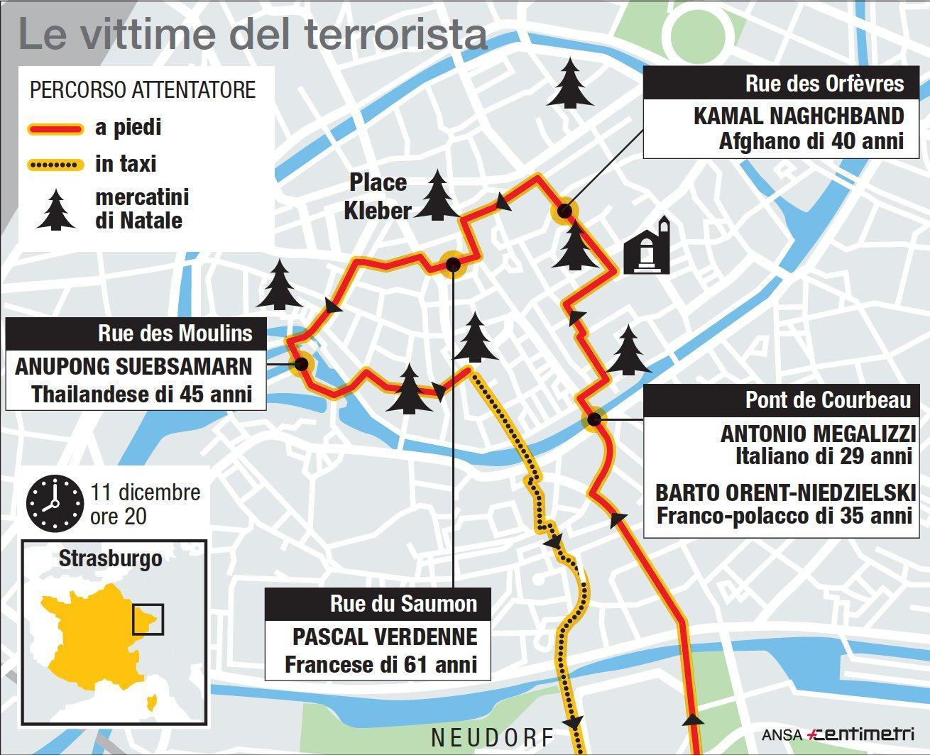 Strasburgo, chi sono le 5 vittime dell attentato ai mercatini di Natale