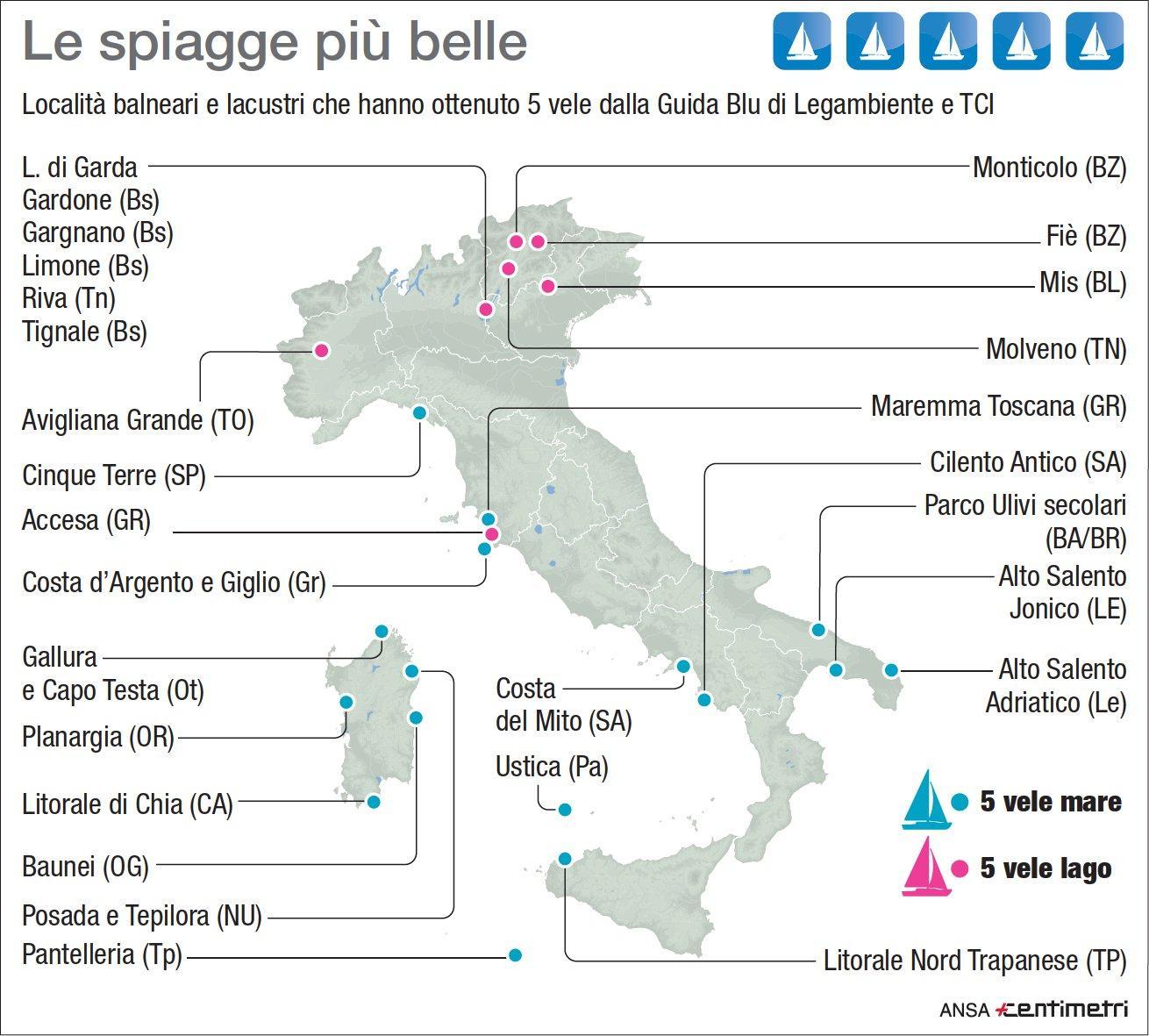 Vele blu, ecco le spiagge più belle d Italia