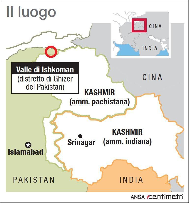 Pakistan, valanga travolge sette alpinisti (quattro italiani e tre pachistani)