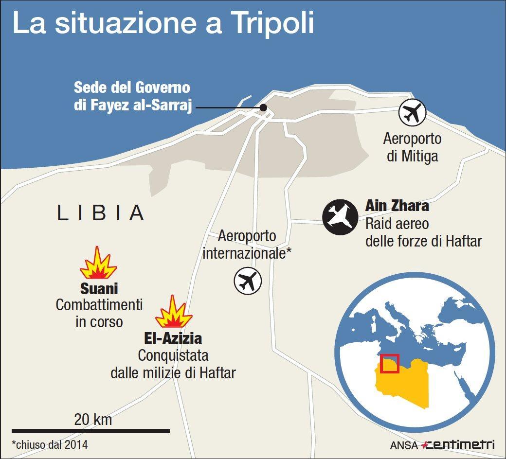 Libia, si combatte a sud di Tripoli: allarme per civili intrappolati
