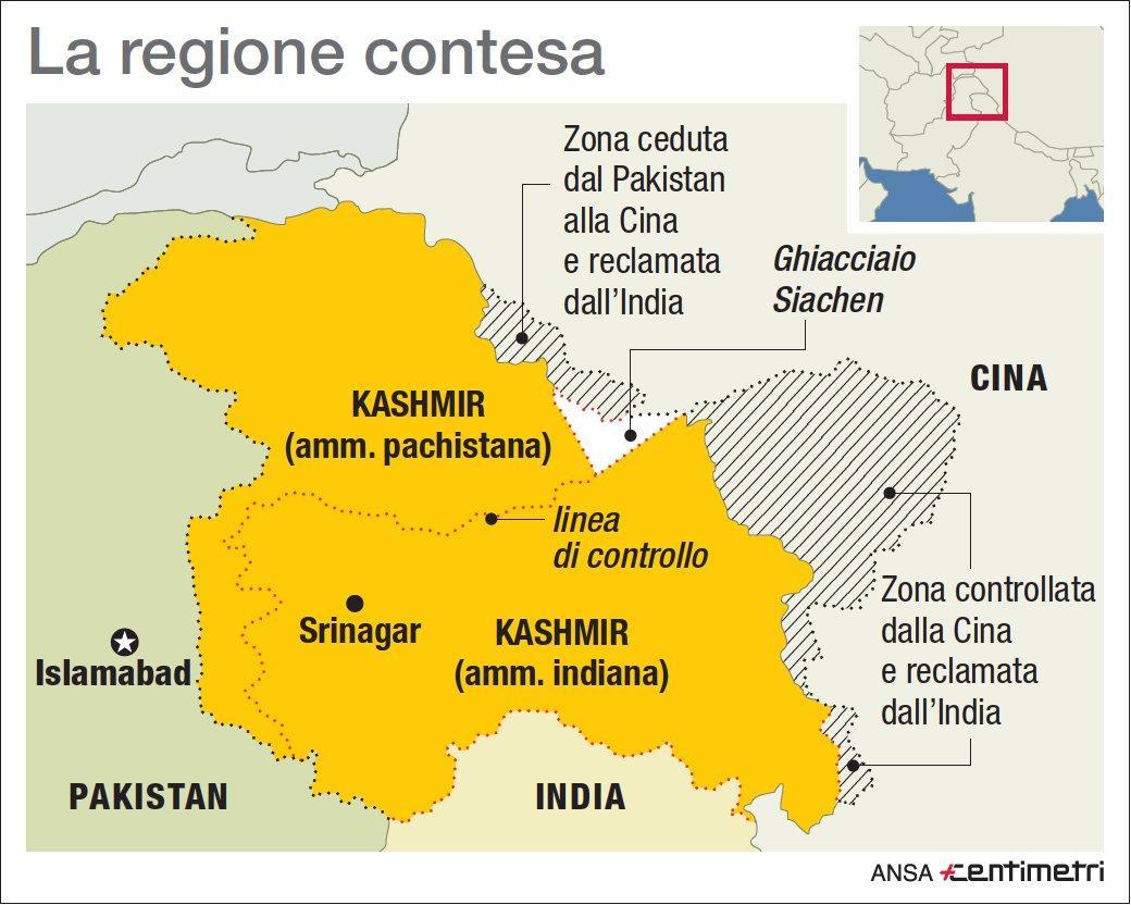 Kashmir, la regione contesa