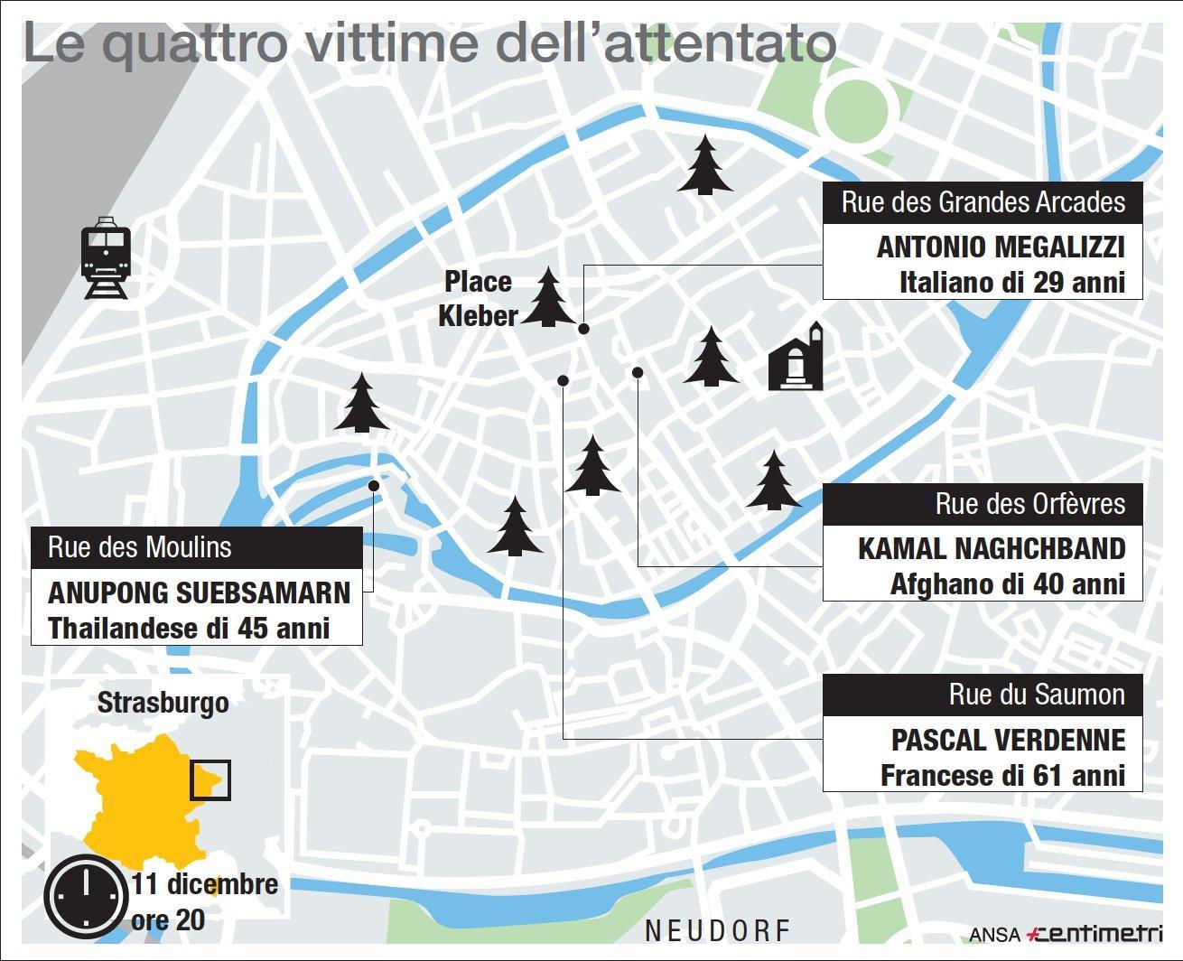 Strasburgo, le quattro vittime dell attentato