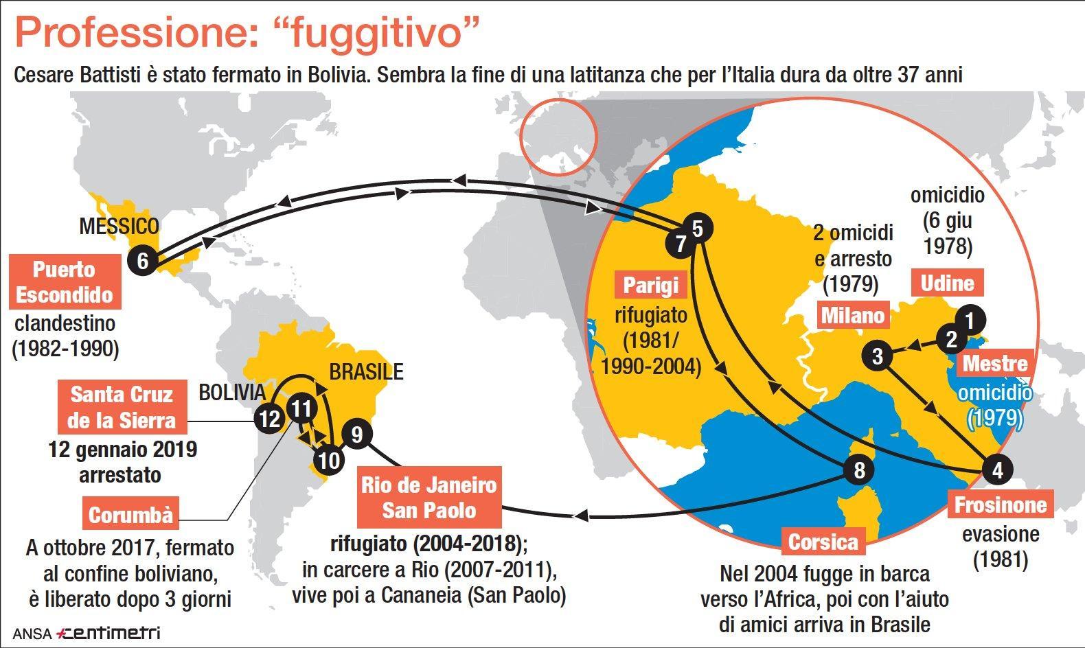 Cesare Battisti: professione fuggitivo, ecco la sua latitanza