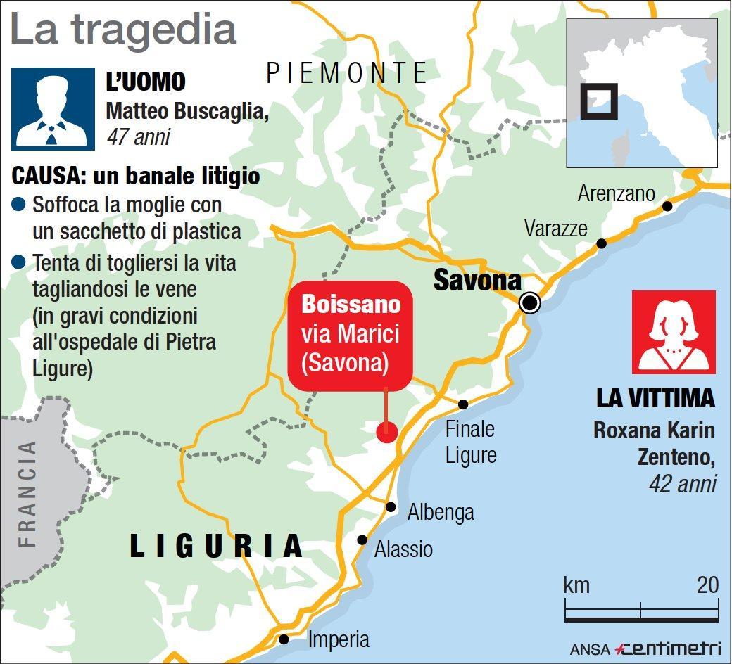 Savona, uccide la moglie e tenta il suicidio: il luogo della tragedia