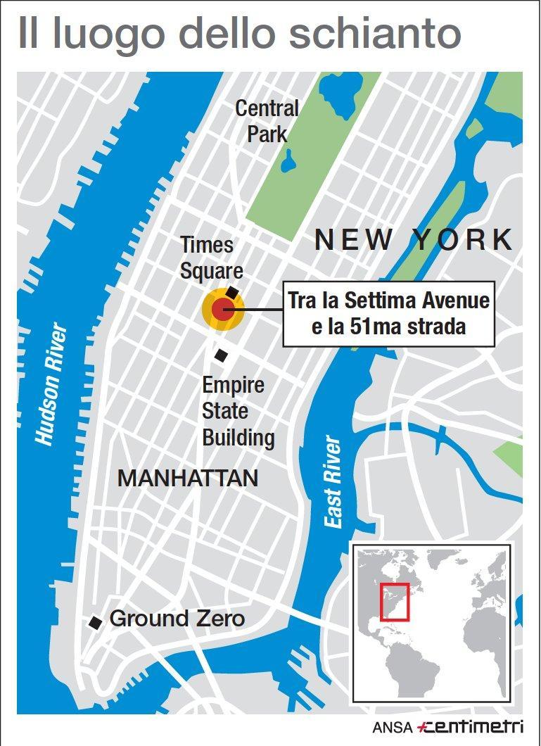 New York, il luogo dello schianto dell elicottero