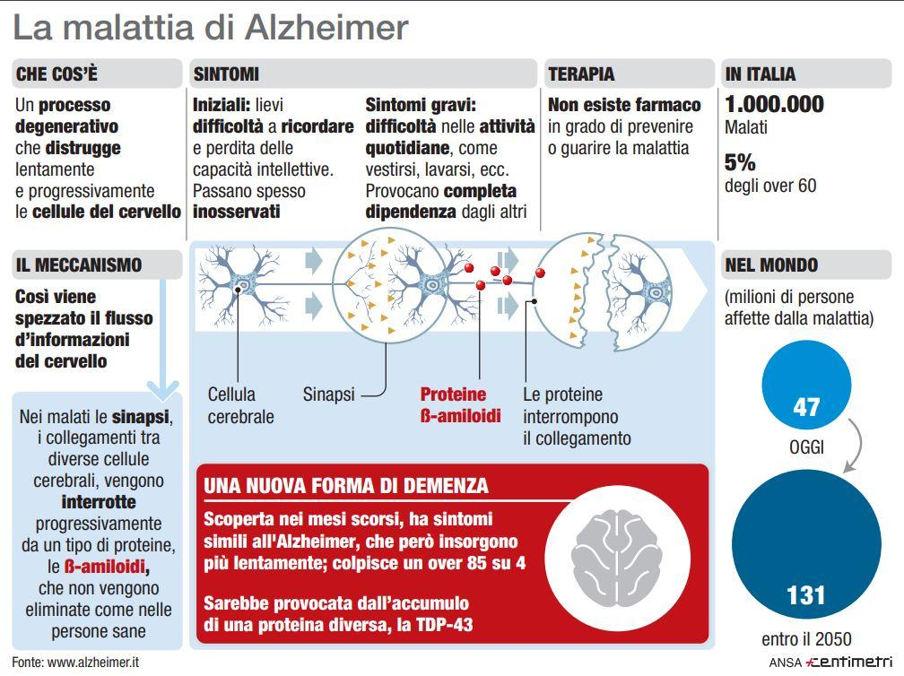 Alzheimer, la scheda della malattia