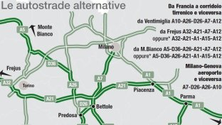 Crollo ponte, le autostrade alternative
