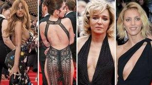 Cannes, red carpet quasi a luci rosse tra scollature e trasparenze hot